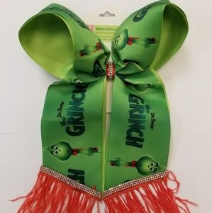 Grinch inspired Cheer Hair Bow